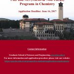 Chemistry Program Now Accepting Applications