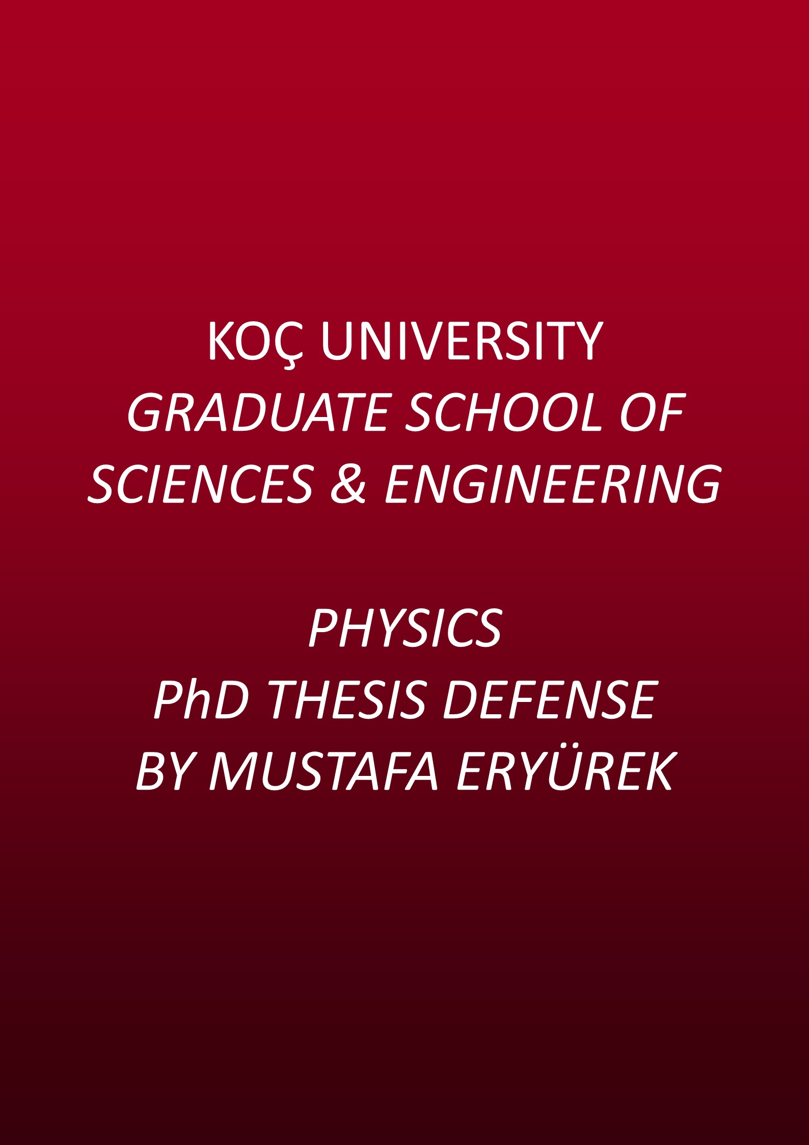 Thesis phd physics