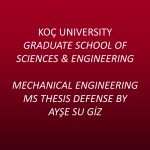 Mechanical Engineering MS Thesis Defense By Ayşe Su Giz