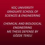 Chemical and Biological Engineering MS Thesis Defense by Gözde Tekeli