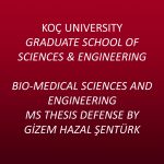 Bio-Medical Sciences and Engineering MS Thesis Defense by Gizem Hazal Şentürk