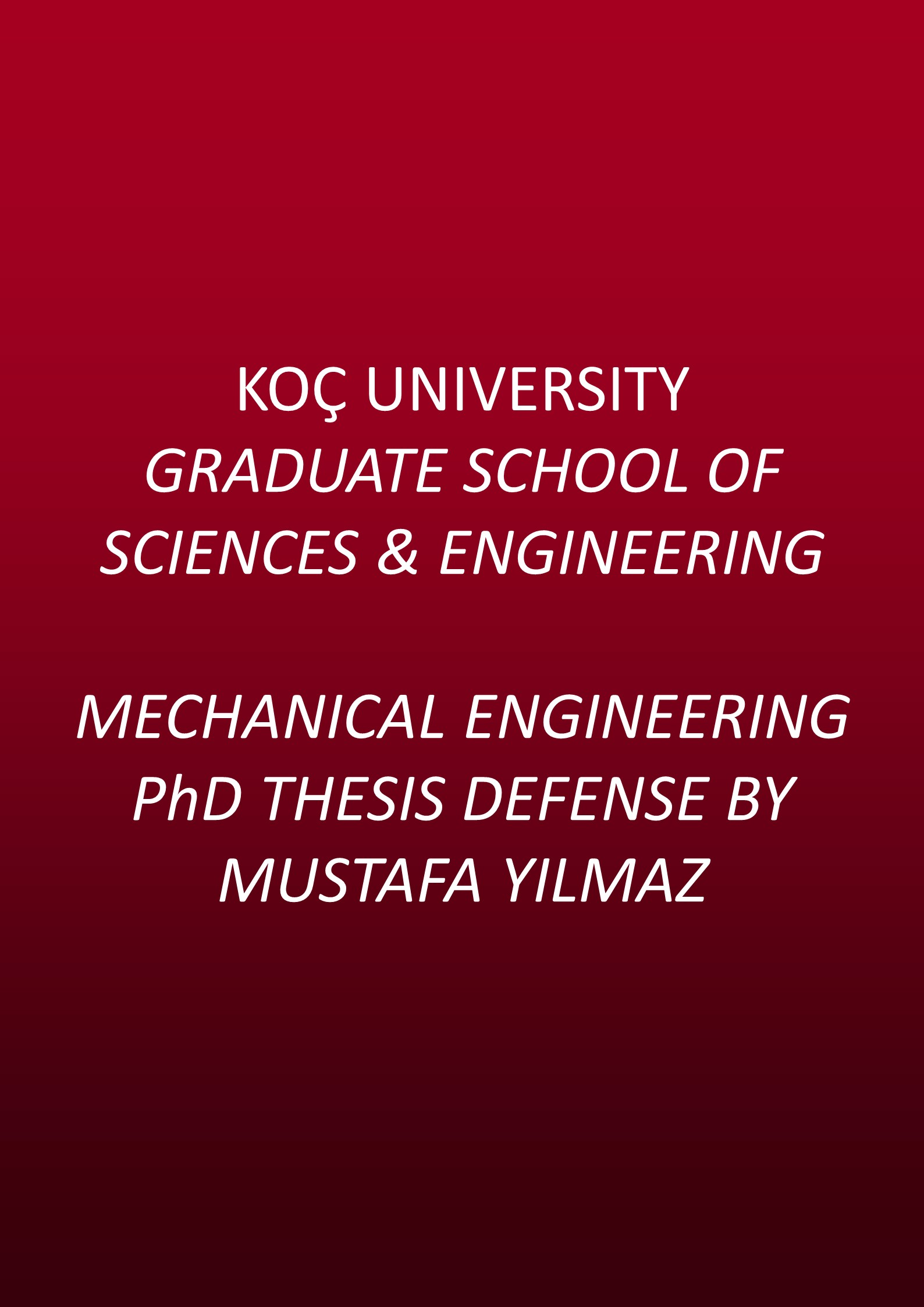 ph d thesis mechanical engineering When you are ready for a final draft of your dissertation, make an  phd  qualifying examination committee petition.